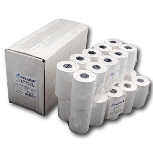 Thermal Paper Credit Card Machine Till Rolls ~ 57x40 mm 20 Rolls