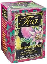 Passion Fruit Na Pali Tropical Black Tea, All Natural, 20 Teabags, Blended and Packed in Hawaii