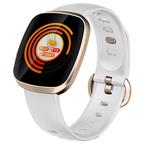 Smart Watch, Fitness Tracker Watch Touch Screen with Blood Oxygen Pressure Heart Rate Sleep Monitor Pedometer Call SMS…