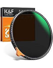 K&F Concept Nano-X II 58 mm ND-filter Variabele grijsfilter ND2-400 (1-8.6 stop) Vario ND-filter met filterzak