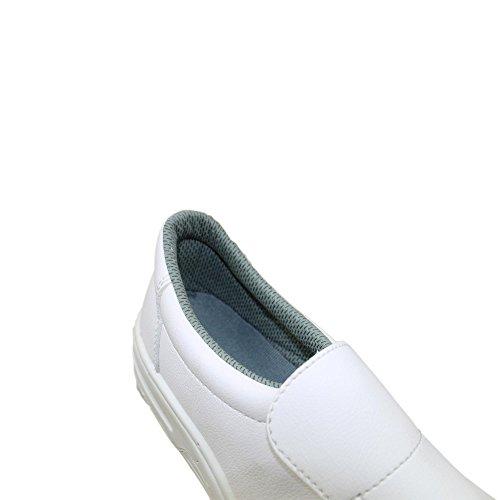 Auda Baleares S1 Sicherheitsschuhe Arbeitsschuhe Trekkingschuhe flach Weiß B-Ware Weiß