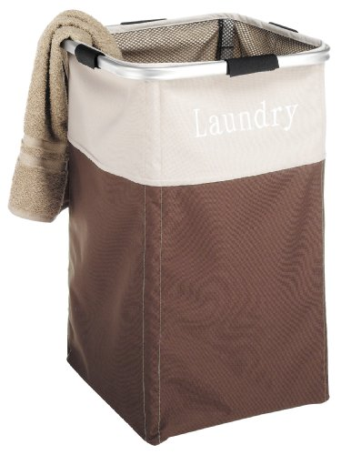 Whitmor Easycare Square Hamper Java