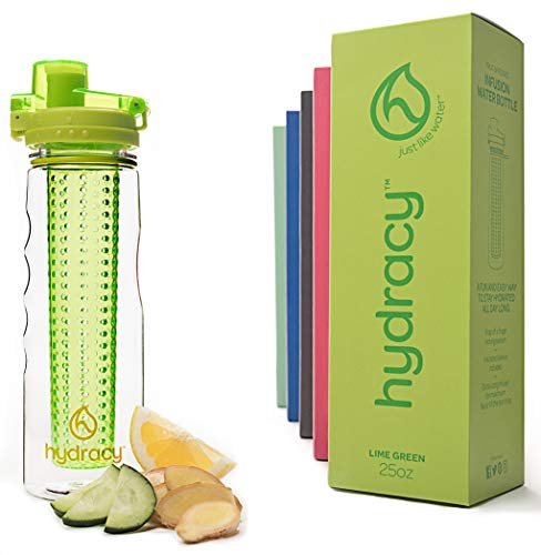 Hydracy Fruit Infuser Water Bottle - 25 Oz Sport Bottle with...
