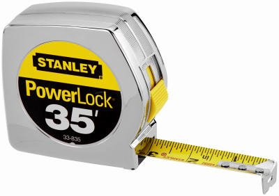 076174338355 - Stanley 33-835 35-Foot Powerlock Tape Rule carousel main 1