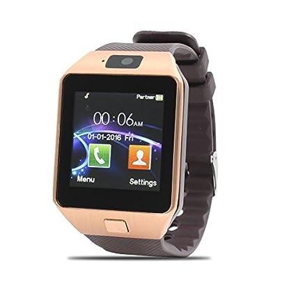 eDealMax Lost-Anti DZ09 podómetro cámara tono SIM tarjetas Reproductor de MP3 inteligente reloj de