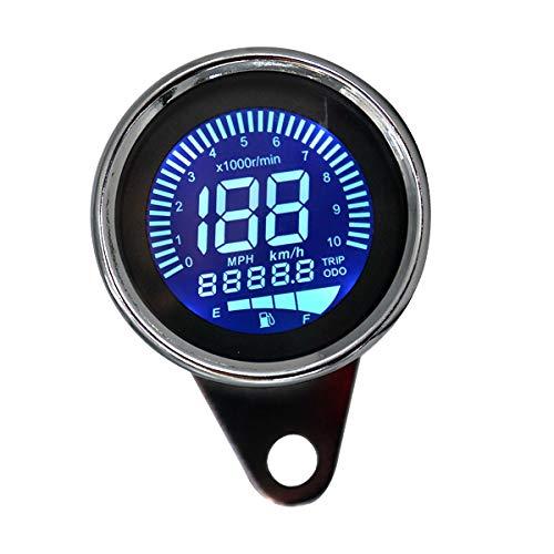 Hpybest Universal Motorcycle Speedometer Odometer 12V Motorcycle Dual Speed Meter with LED Indicator Speedometer Motorcycle: