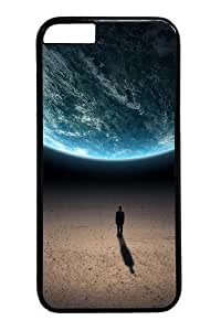 Alone in the universe Custom For Iphone 4/4S Case Cover Polycarbonate Black