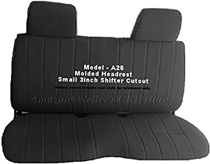 Amazon A25 Toyota Pickup Front Solid Bench Black Seat Covers
