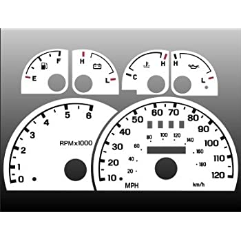 Amazon Com 1998 2003 Ford Ranger White Face Gauges Automotive