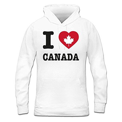 Sudadera con capucha de mujer I Love Canada by Shirtcity Blanco