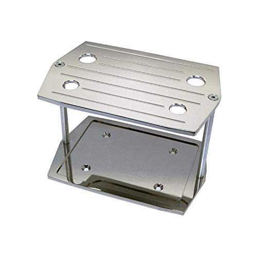 Eckler's Premier Quality Products 57305844 Chevy Chrome Ball Milled Optima Battery Tray by Premier Quality Products