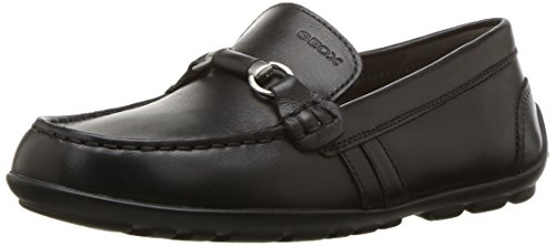 Geox New Fast BOY 3 Moccasin Black 38 M EU Big Kid (5.5 US)