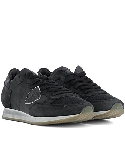 Model Hi Philippe Pelle Trlurw04 Uomo Sneakers Top Grigio aPUUwqOzn