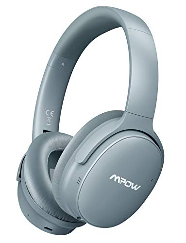 Mpow H10 [2019 Edition] Dual-Mic Active Noise Cancelling Bluetooth Headphones, ANC Over-Ear Wireless Headphones with CVC 6.0 Microphone, Hi-Fi Deep Bass, Foldable Headset for Travel/Work