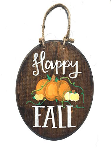 - Happy Fall Handpainted Wooden Plaque Sign Perfect for Autumn, Halloween, Thanksgiving!