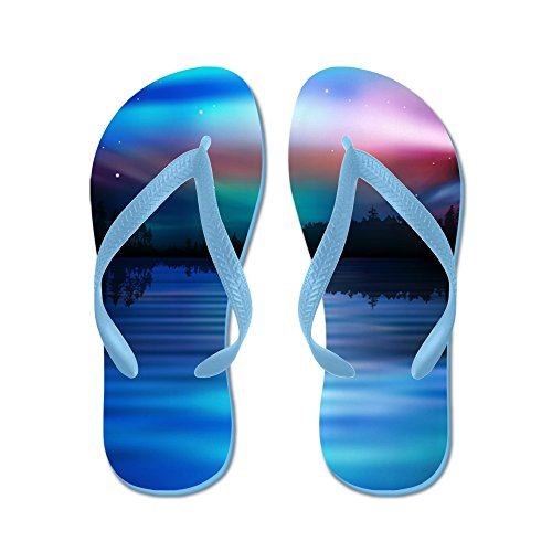 Aurora Boreale - Infradito, Sandali Infradito Divertenti, Sandali Da Spiaggia Blu Caraibico