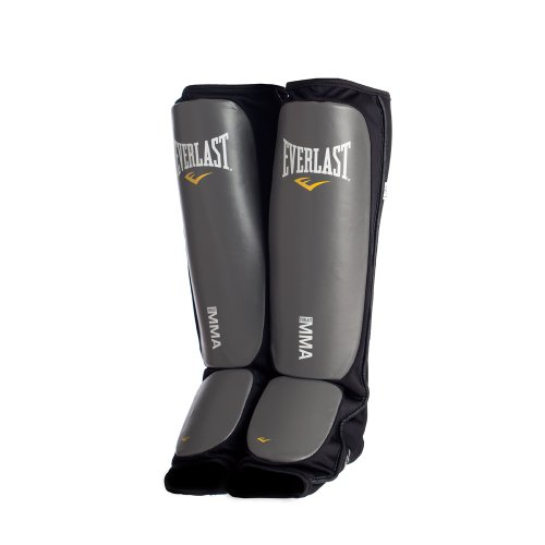 Everlast Black New Mixed Martial Arts Shin Guards (Large/X-Large)