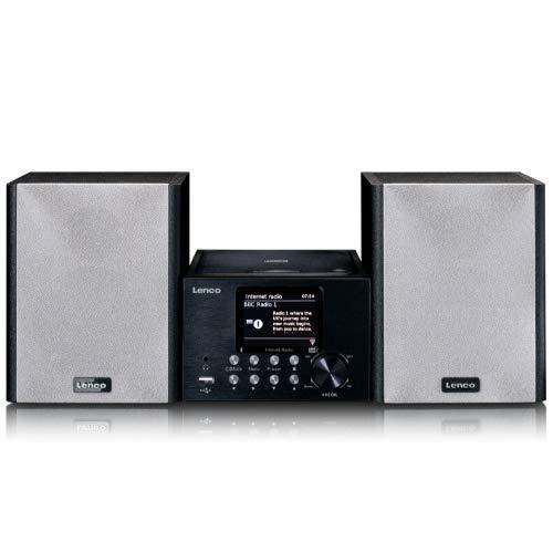 Lenco MC-250 Compact systeem met WLAN internetradio, digitale radio met DAB+ en wifi, FM-radio, CD/MP3-speler, 2,8 inch…