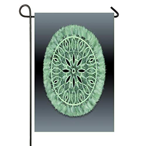 AnleyGardeflagsU Mint Green 3D Faux Embroidery Garden Flags Let You Celebrate Every Season (Spring Celebration).