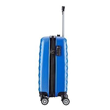 Maleta cabina Set de dos 55cm ABS rígida ligera con 4 ruedas 40L por Ryanair/Easyjet Equipaje de mano: Amazon.es: Equipaje