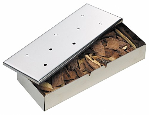 Smoker Box for BBQ Grill Wood Chips Meat Smokers Box in Barbecue by EVERFLOWER