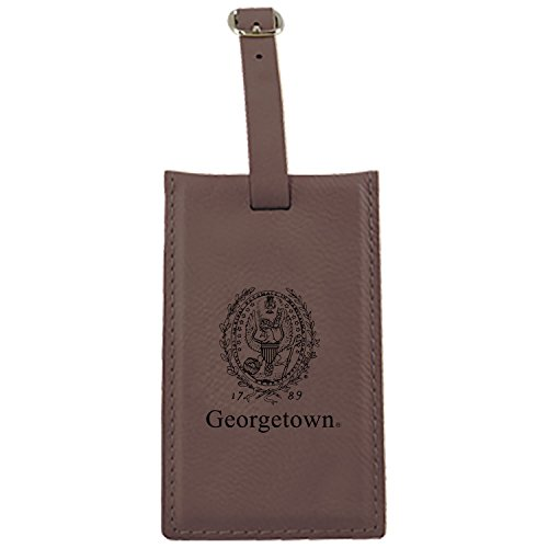 Georgetown University-Leatherette Luggage Tag-Brown by LXG, Inc.