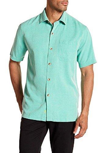 Bahama 100% Silk Shirt - Tommy Bahama Coastal San Clemente Silk Camp Shirt (Color Jade Isle, Size XXL)
