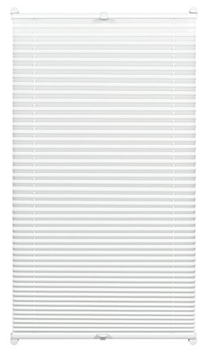 Gardinia Pleated with a Thermal Back for Clamping, High Light Reflection, Energy Saving, Mounting Kit Included, EASYFIX Thermo-Pleated Blind with Two Operating Rails, White, 50 x 130 cm (WxH)