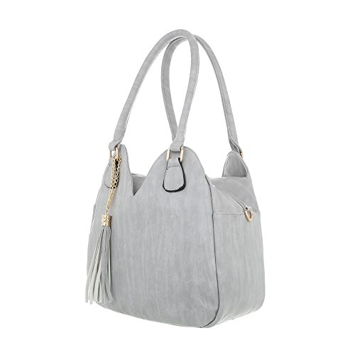 Ital al Bolso Design Gris hombro de gris para claro Sintético One Size mujer qrSq1gExw
