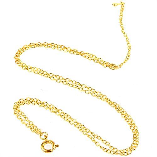 """SODIAL(R) Or Tone Double Chaine de Cheville Bracelet de cheville 0.07"""" HOT"""