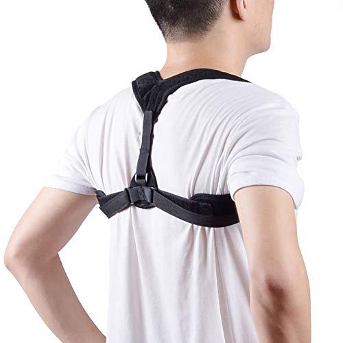 (MXDCYTB Posture Corrector, Back Support Brace, Posture Correction for Upper Back, Adjustable Front Back Belt Breathable Straps, Shoulder Brace Help to Improve Posture for Men & Women)