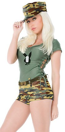 Playboy Bootcamp Babe Adult Costume - X-Small