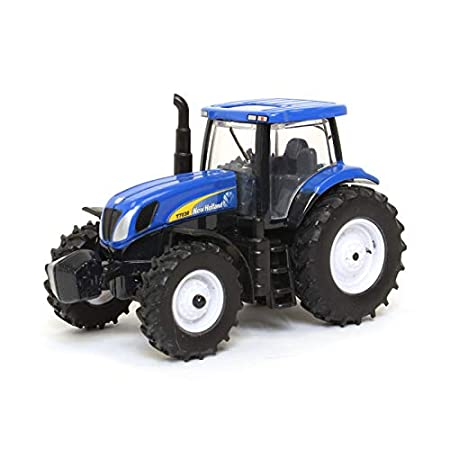 Tomy 1:64 Small Metal Tractor Red Case 140 Blue New Holland