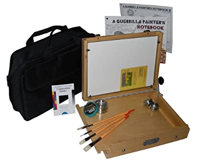 Guerrilla Painter 12-Piece LapTop Oil and Acrylic Plein Air Kit, 9 by 12-Inch