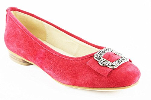Hirschkogel Schuhe Halbschuhe Sommer Ballerinas Echt Leder 2060, Schuhgröße:38