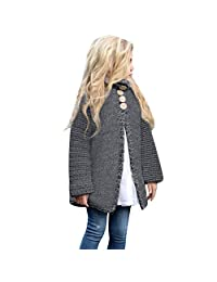 Theshy Children Kids Baby Girls Outfit Button Knitted Sweater Cardigan Coat