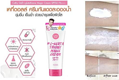New package-Cathy Doll Whitening Sunscreen L-Glutathione Magic Cream SPF 50 PA+++ - the next level of sunscreen protection moves beyond mere protection against the sun and UV rays, 60ml