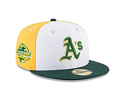 New Era Oakland Athletics 2018 MLB All-Star Game On-Field 59FIFTY Fitted Hat – White/Green