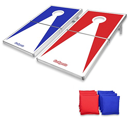 GoSports Regulation Size Cornhole Set with Aluminum Frame