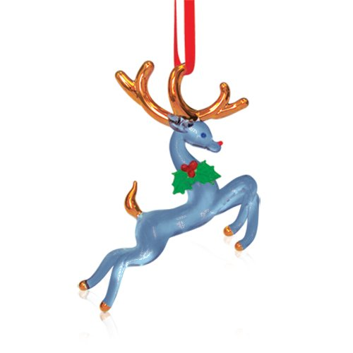 Glass Baron Clear Reindeer Ornament (Clear Canada Ornaments)