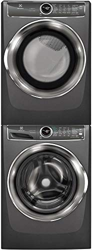Electrolux Titanium Front Load Laundry Pair with EFLS627UTT 27″ Washer, EFMG627UTT 27″ Gas Dryer and STACKIT7X Stacking Kit
