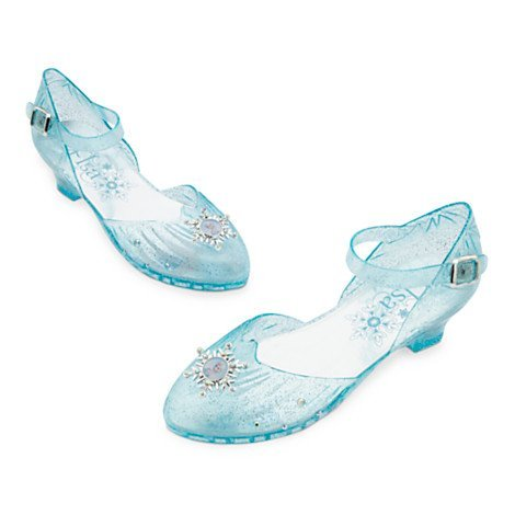 Elsa Light-Up Costume Shoes For Kids, Inspired by Elsa from Frozen, Light-up heel , Size UK 9-10 / EU 27-28 by (Frozen Costume Elsa Uk)
