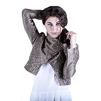 Escale Gold Cotton Bolero For Women
