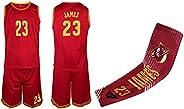 James Lebron Red/Navy Kids Basketball Jersey Shorts Youth Sizes Premium Quality Gift Set