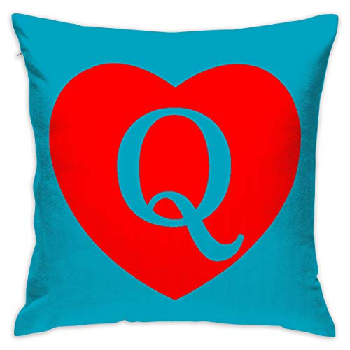 Yangkun Throw Pillow Covers Queen of Hearts 18 X 18 Inches Cushion Sham for Couch Bed Sofa Painted Colorful Geometric Print Daily Decorations for Home D??cor Square Coastal Cushion Cover