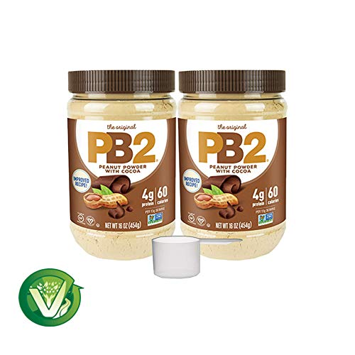 Bell Plantation PB2 Premium Chocolate 2 Packs - 1 LB Ounce - with 2 oz Measuring Scoop