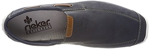 Rieker Men's 08971 Loafers, Blue (Blue) Blue (Lake/Denim/Amaretto 15)