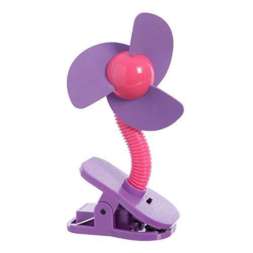 Dreambaby Tee-Zed Clip on Fan - Pink/Purple - 1 Count