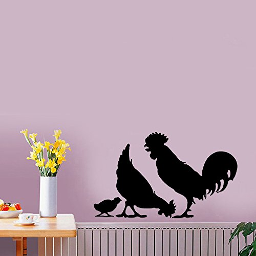 Chicken Rooster Chicks Farm Animal Removable Wall Sticker Art Home Office Room Mural Decor Vehicle Car Truck Window…