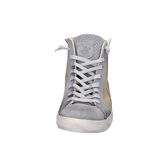Fashion Beige CLUB POLO Camoscio Uomo BEVERLY Grigio EU Sneakers HILLS Tela 42 pqRata